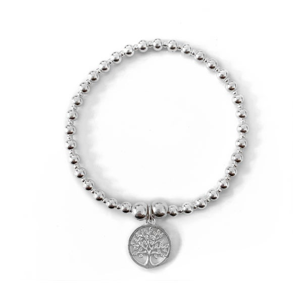 Image of Sterling Silver Tree of Life & Love Charm Bracelet