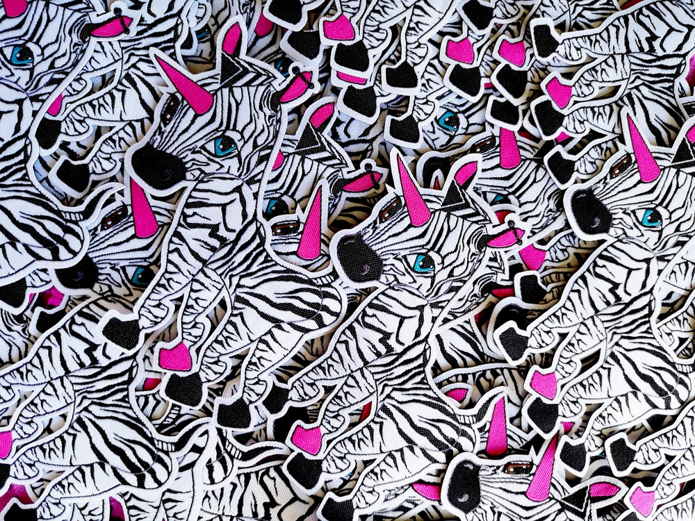 """ZANBY 100mm / 4"""" WOVEN IRON-ON PATCH"""