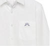 White OBSC embroidered button-up shirt