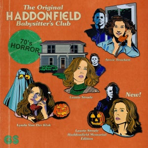 Image of Haddonfield Babysitter's Club: Laurie Strode Haddonfield Memorial Enamel Pin