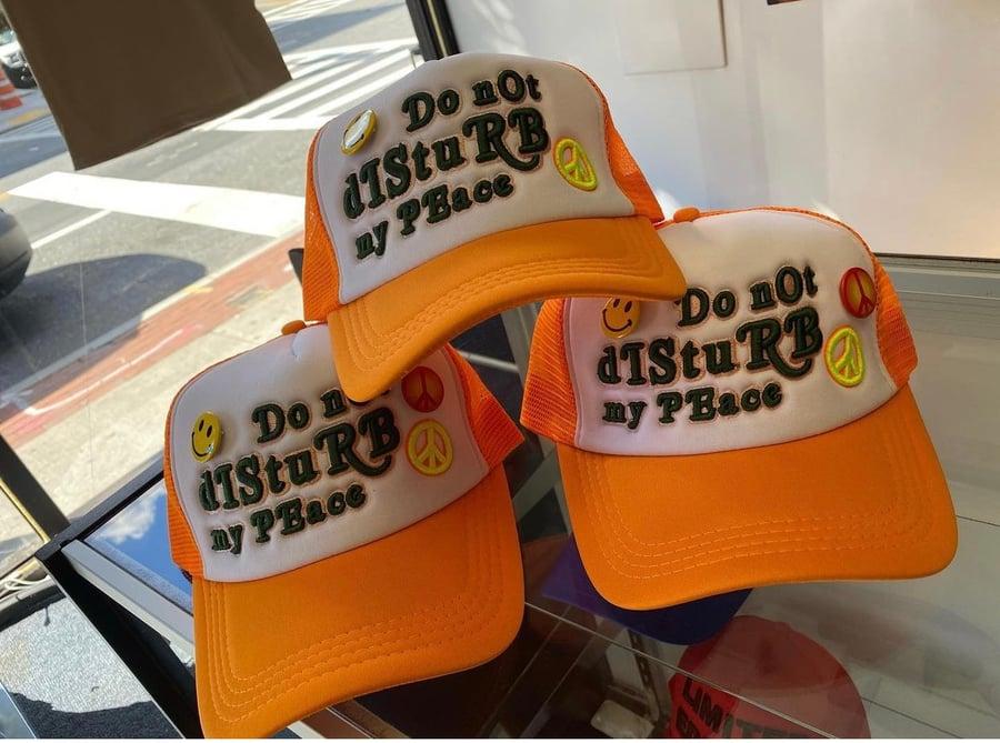 Image of Orange Do Not Disturb Trucker