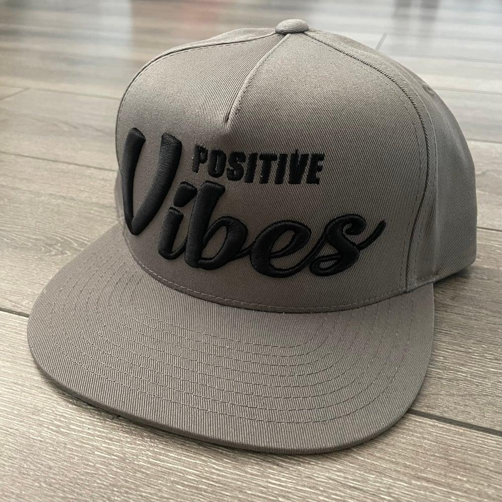 Image of Positive Vibes Warm Grey Snapback Hats