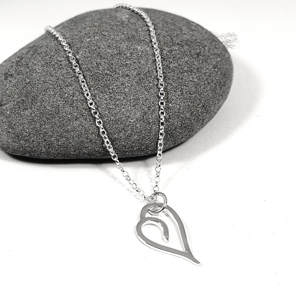Image of Silver Heart Necklace 'Go Pixie'
