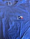 Blue Pie Flag Long-Sleeved Shirt