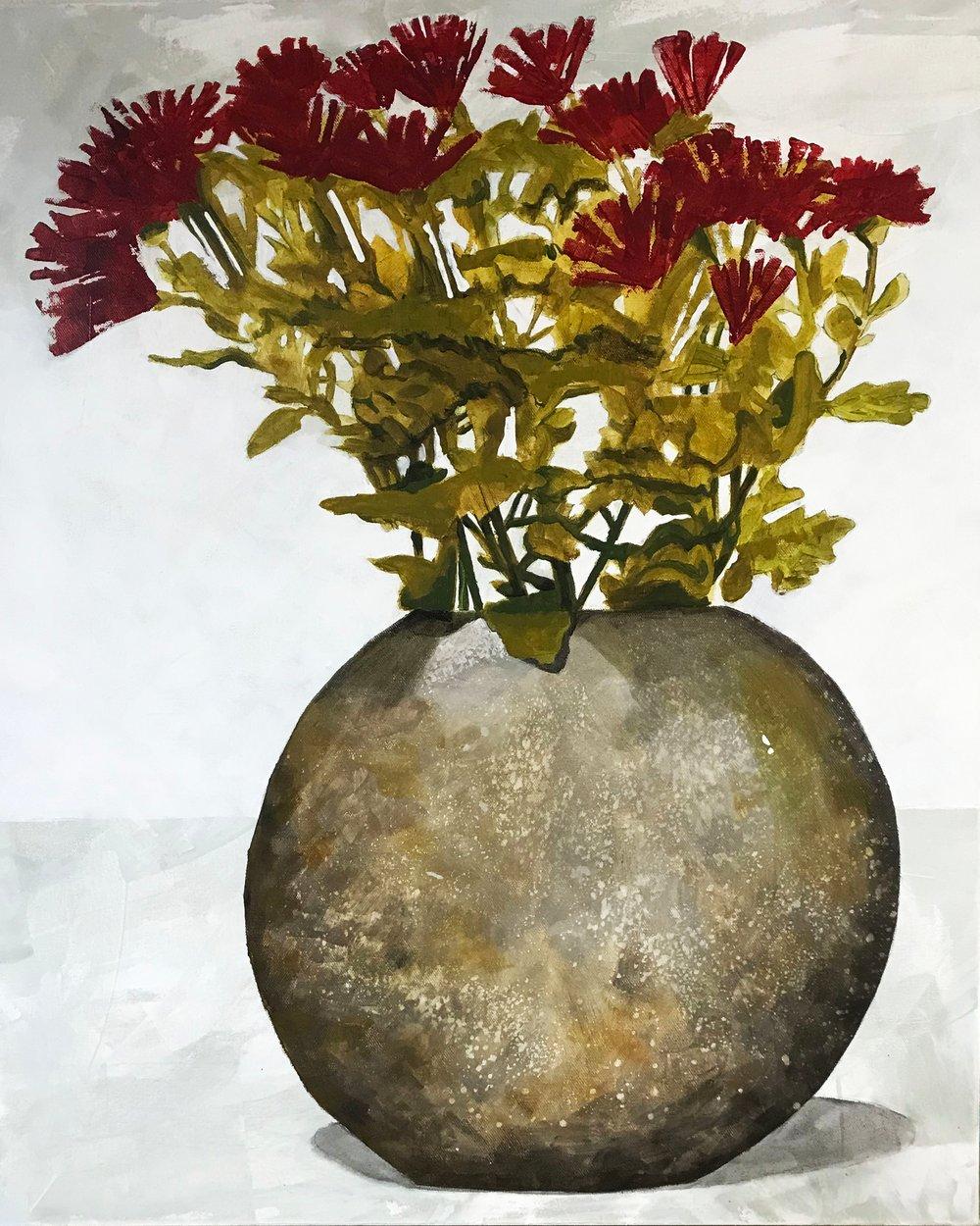 Image of Tarnished Silver Vase
