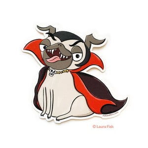 Image of Spooky Halloween Pug Stickers
