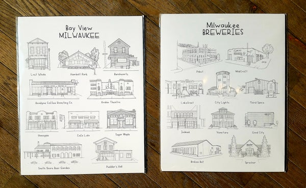 Image of MKE Breweries and Bayview Art Print by Emma Mannino