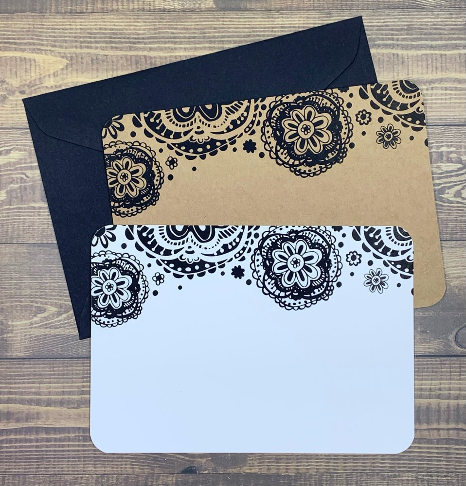 Image of doily note cards