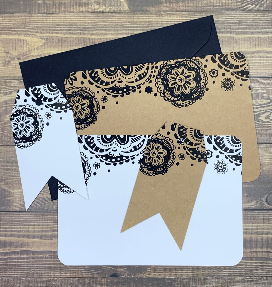 Image of embossed doily gift tag