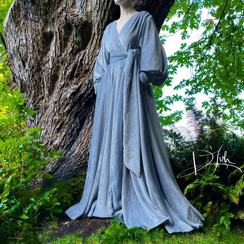 """Image of """"Softest Blue"""" Felicia Supreme Dressing Gown"""