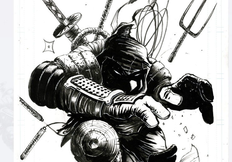 Image of LAST RONIN EXPLOSION (UNPUBLISHED COVER)