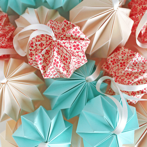 Image of Christmas: Make Your Own Folded Baubles - online- 15th November ( 7 - 8.30pm)