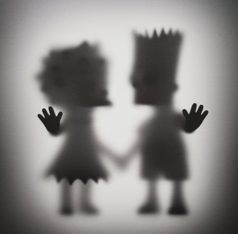 "Image of GONE BART & LISA""- LIMITED EDITION PRINT 50 - 60CM X 60CM"
