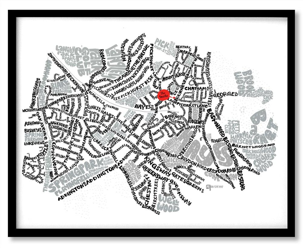 Image of West Wickham - Hayes - Coney Hall – SE London Type Map
