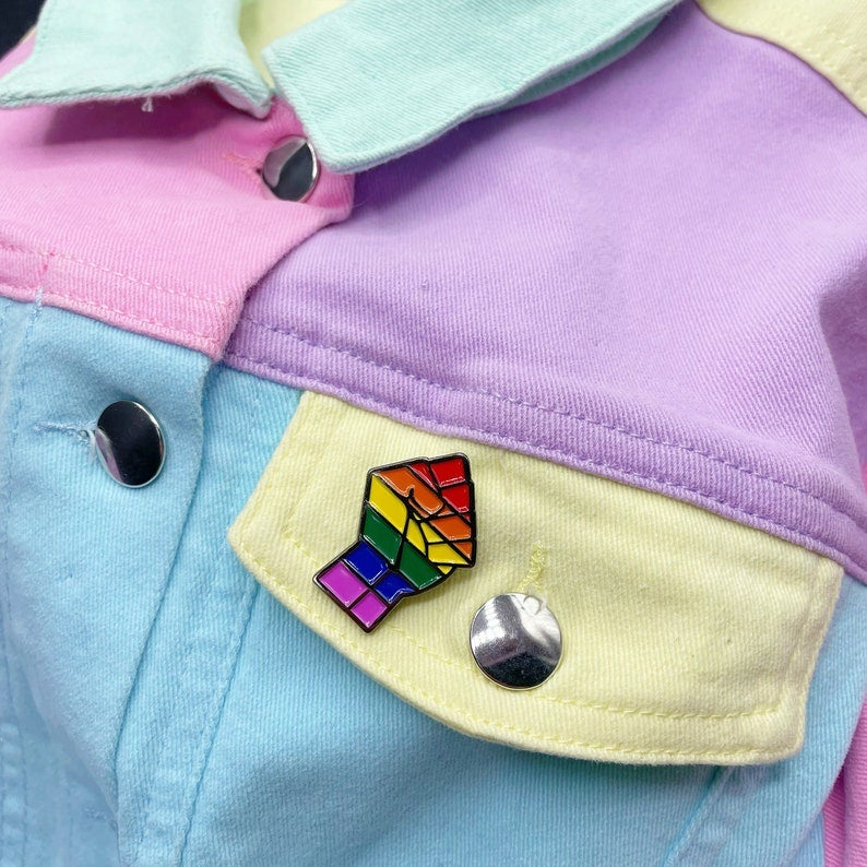 Image of LGBTQ+ Pride Flag Enamel Pin
