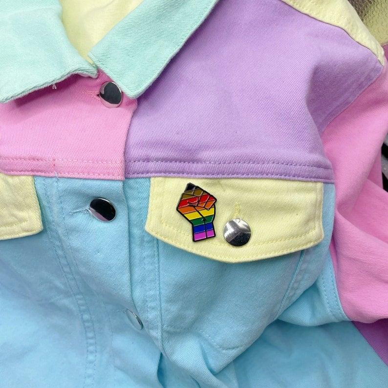 Image of POC LGBT Pride Flag Enamel Pin