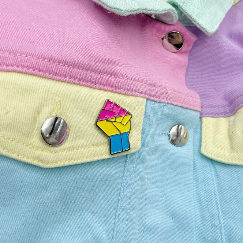 Image of Pansexual Pride Flag Enamel Pin