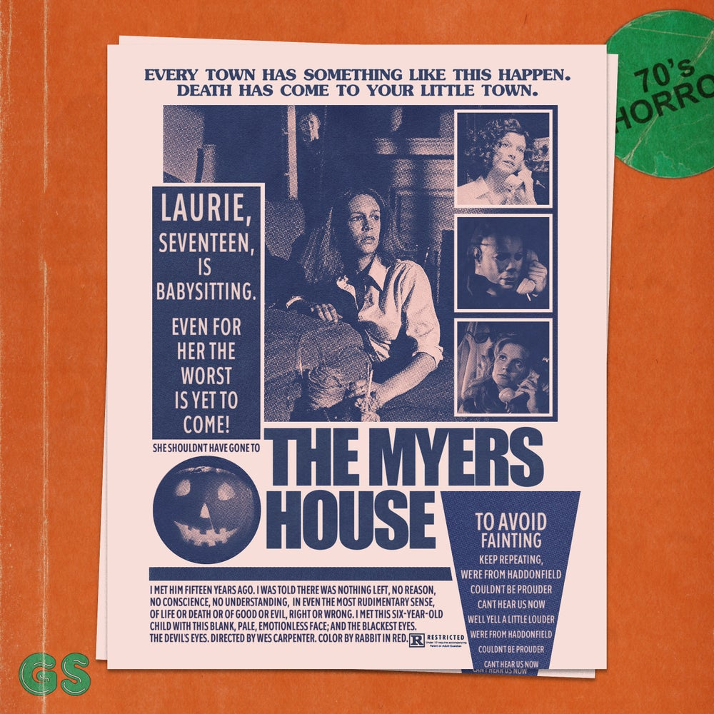 Image of 'The Myers House' Art Print