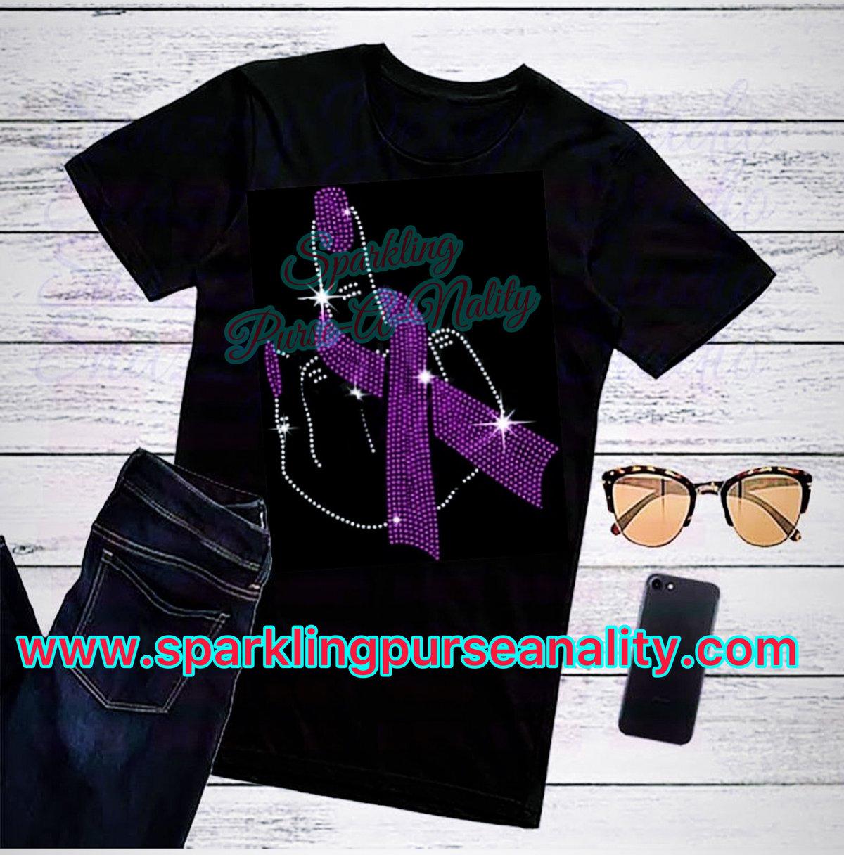 """Image of """"Sparkling"""" Middle Finger Breast Cancer Awareness"""