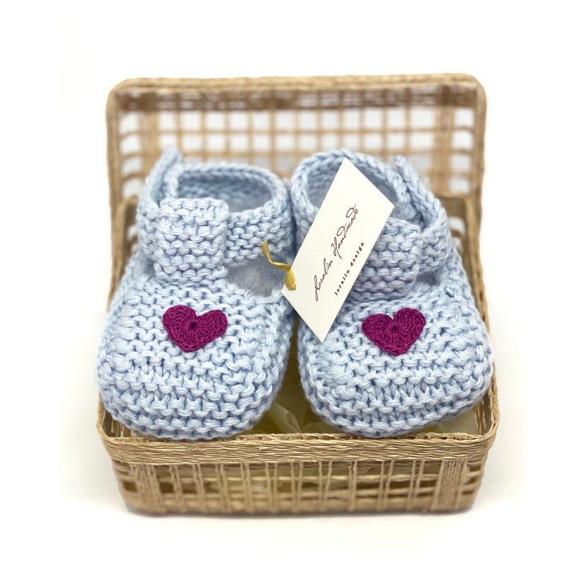 Image of Blue Heart Booties