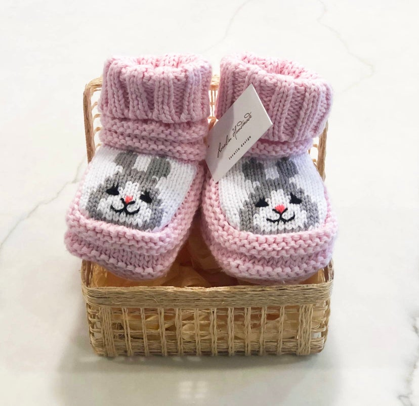 Image of Pink Bunny Booties