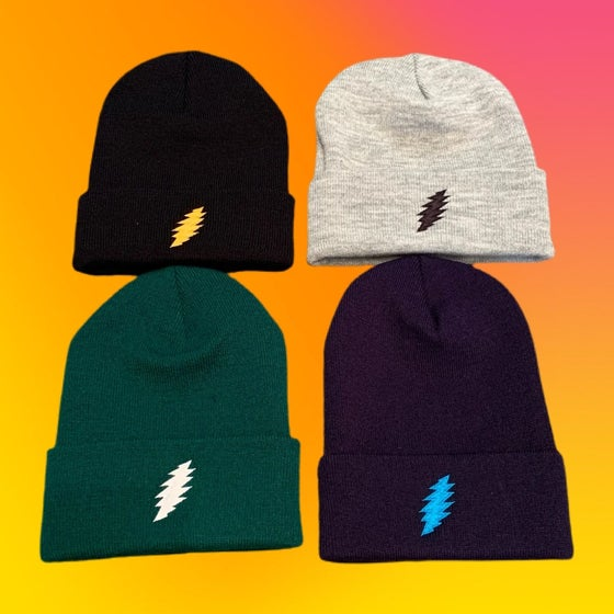 Image of Bolt Embroidered Beanies!