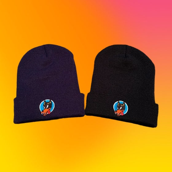 Image of Wolf Embroidered Beanies!!