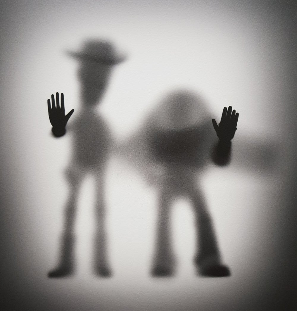 """Image of GONE """"COWBOY AND ASTRONAUT""""- LIMITED EDITION TEST PRINT - 60CM X 60CM"""