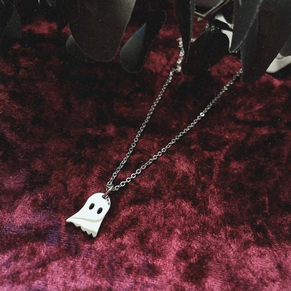 Image of Ghostie Stainless Steel Pendant Necklace