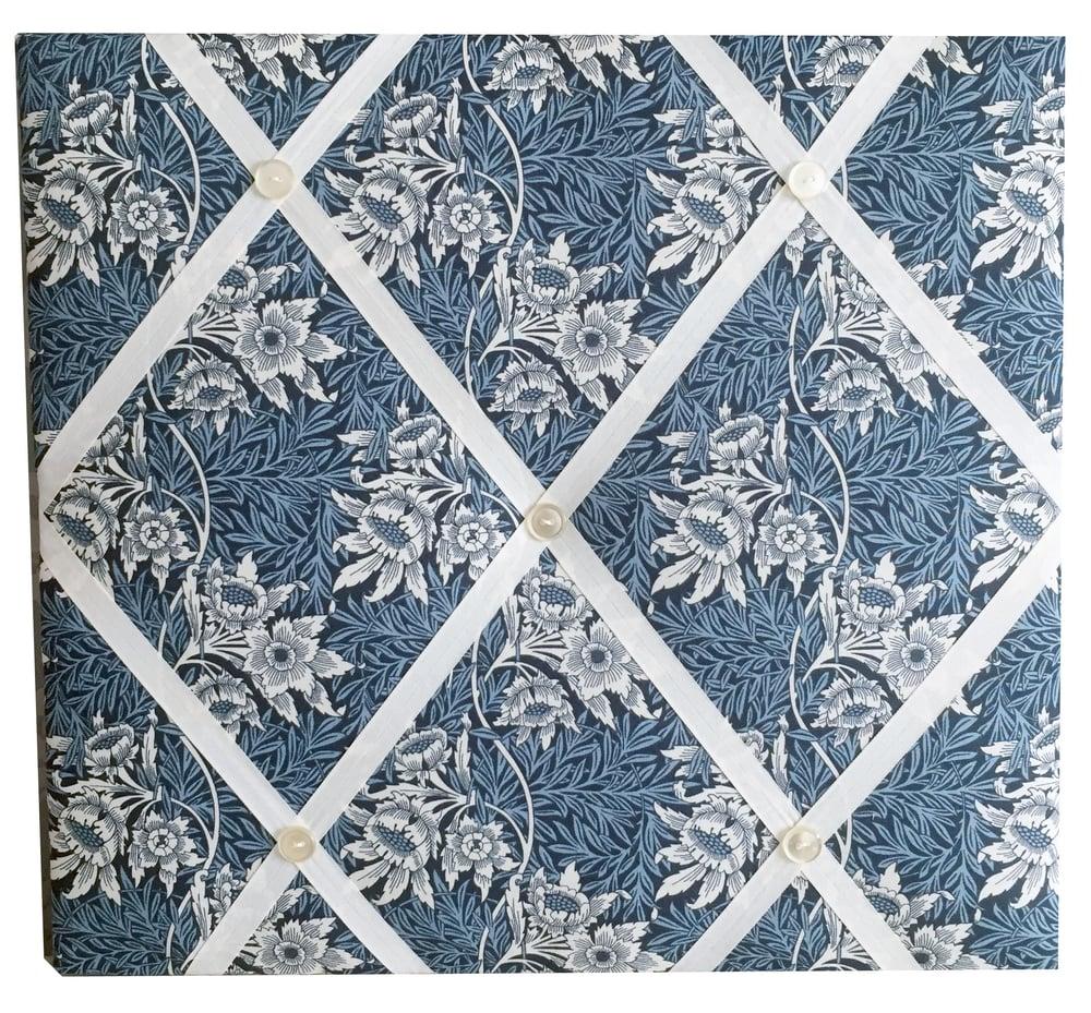 Image of William Morris Tulip and Willow Fabric Memo Board