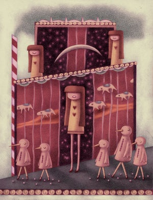 """Merry House"" art print"