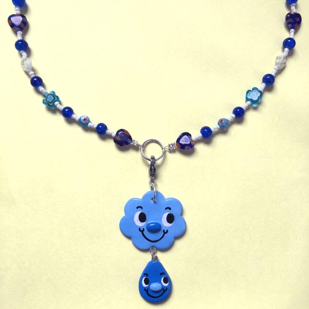 Raincloud Charm Necklace