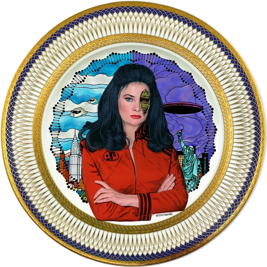 Image of Diana - V - Fine China Plate - #0787
