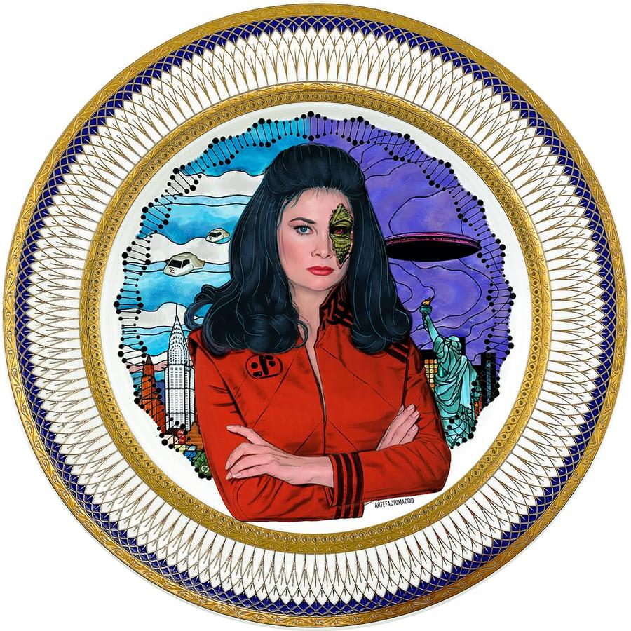 Image of Diana - V - Large Fine China Plate - #0774