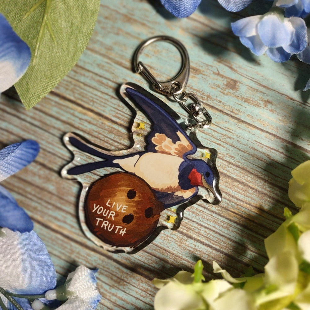 'Live Your Truth' Swallow Epoxy Charm!