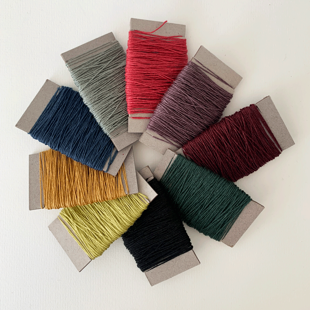 Image of Coloured Linen Thread