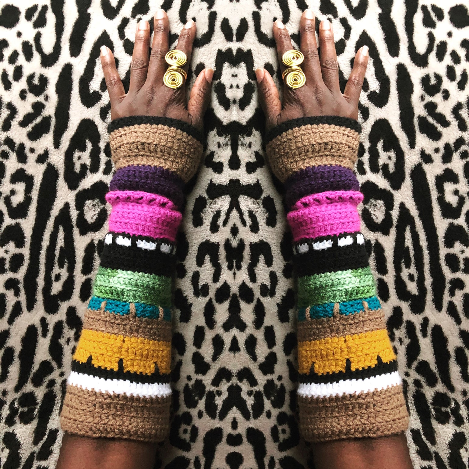 Image of Vibrant Autumn Arm warmers