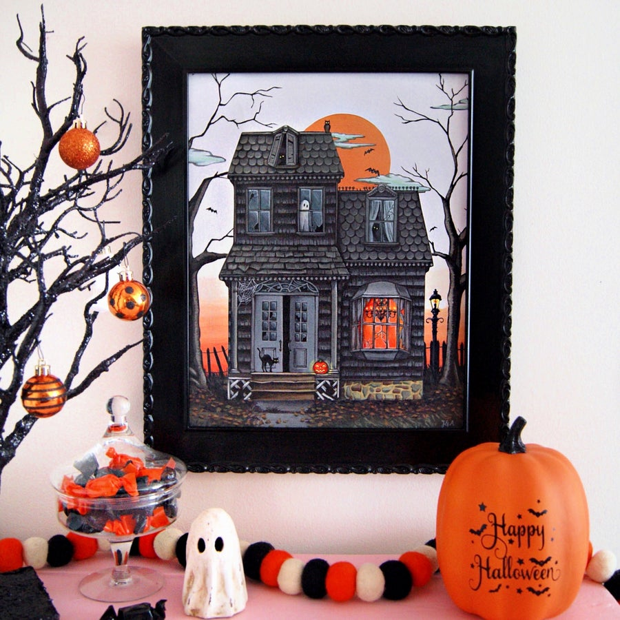 Image of Haunted House 11x14 print