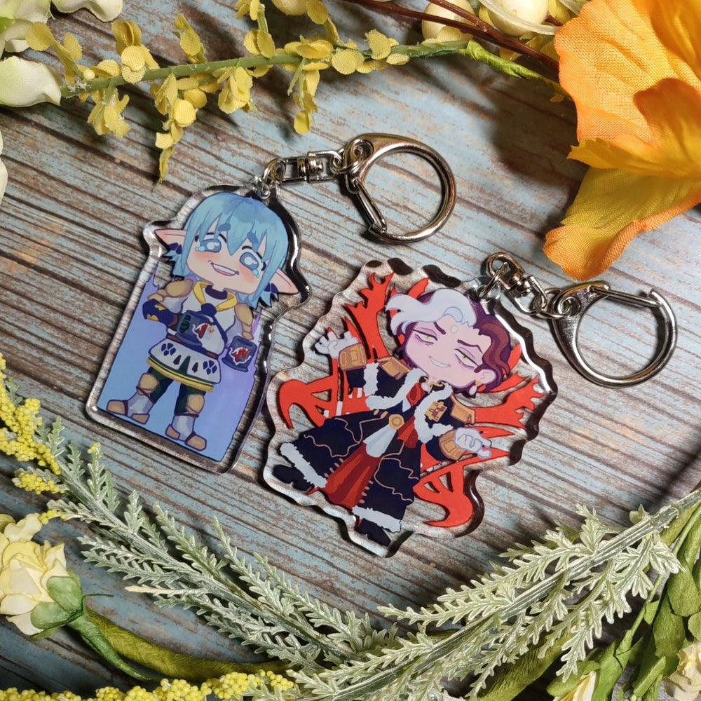 FFXIV Double-Sided Epoxy Charms!