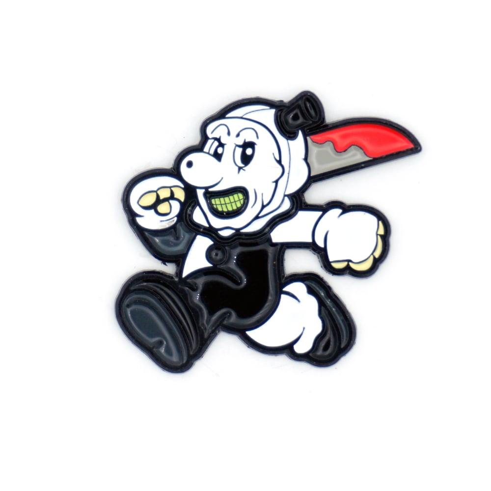 Art the Clown enamel pin