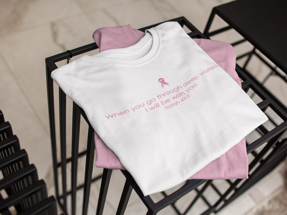 Image of Unisex Deep Waters Breast Cancer T-Shirt