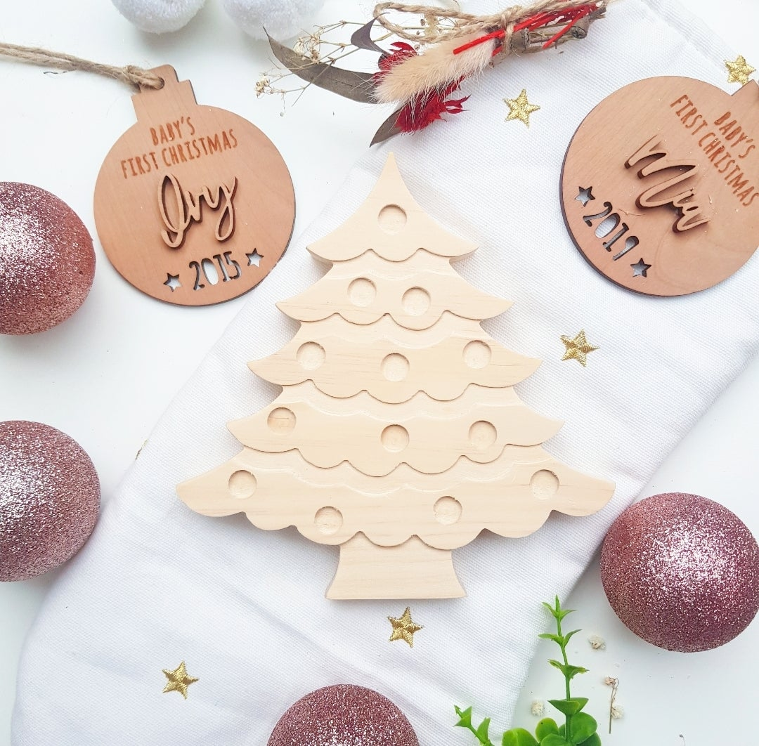 Image of DIY Wooden Christmas Trees