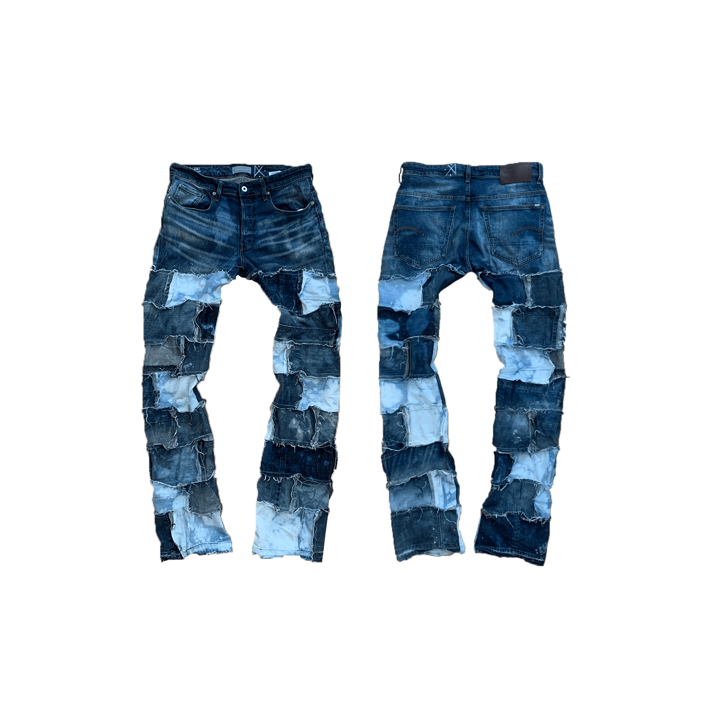 Image of BLEACHED STACK PANTS