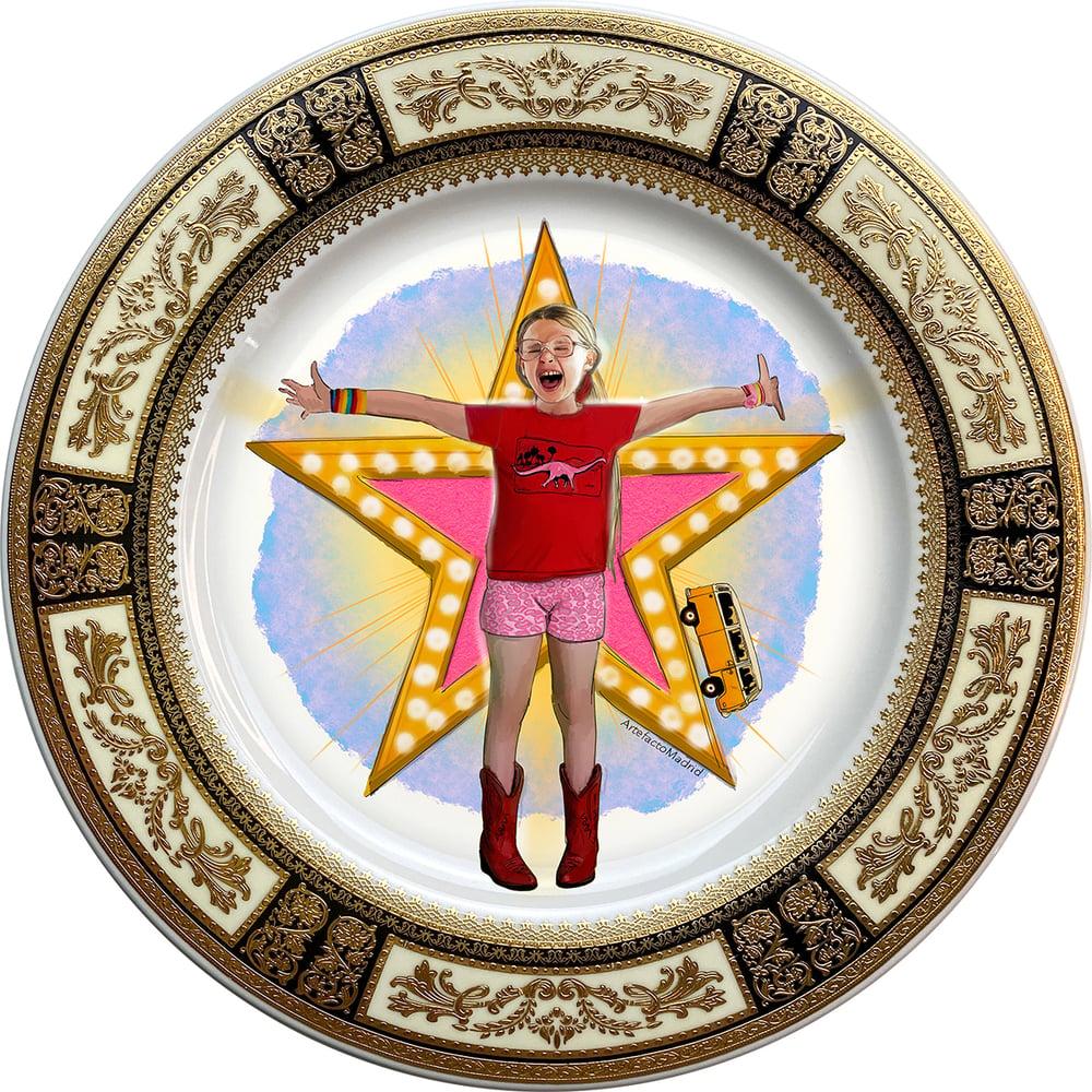 Image of Little Miss Sunshine - Fine China Plate - #0740