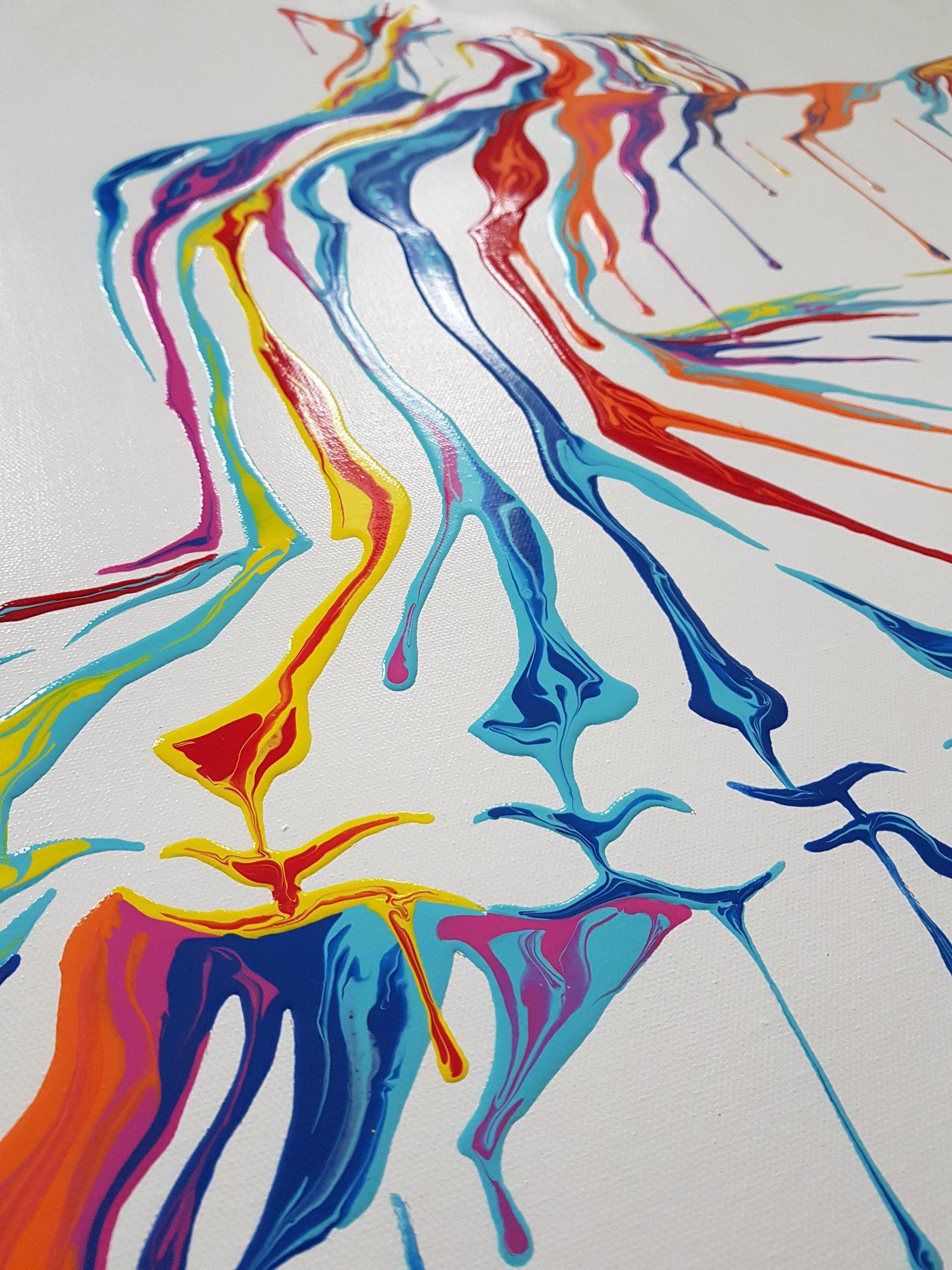 "Image of SHANE TURNER ""MUSIC IN MOTION 2.1"" - ORIGINAL CANVAS - 105CM X 76CM"
