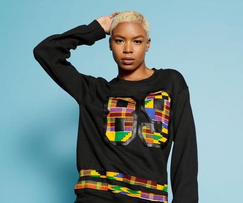 Image of African print sweatshirt unisex