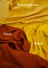 Couverture moutarde & pois dorés