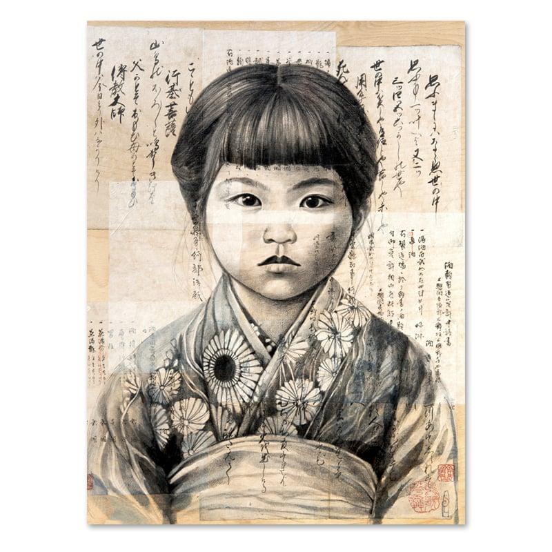 "Image of Paper Art Print - ""Keiko"""