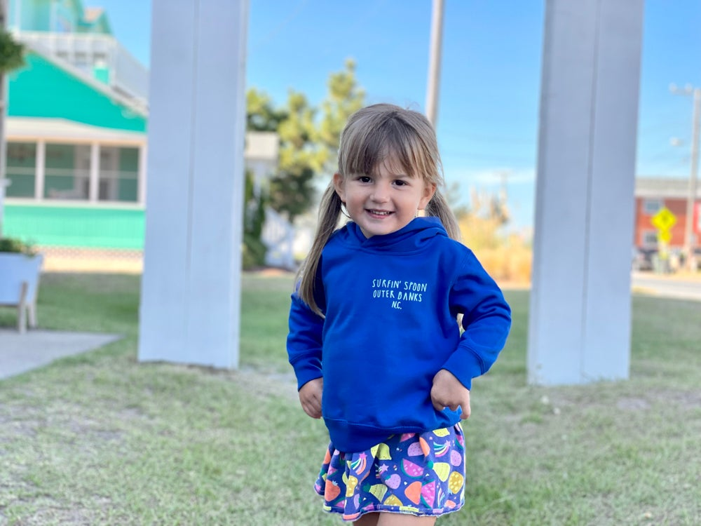 Image of NEW // STOKED Royal Blue Toddler Hoodie