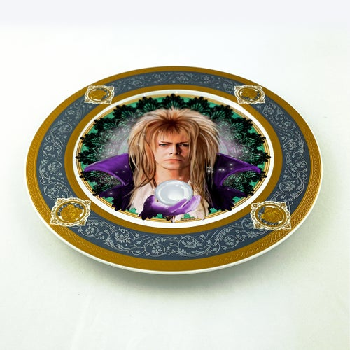 Image of Jareth the Goblin King - Labyrinth - Large Fine China Plate - #0773